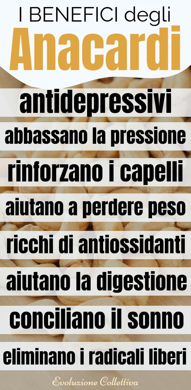 #anacardi #fruttasecca #salute #antidepressivi #evoluzionecollettiva