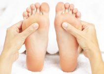riflessologia plantare mappa dei punti del piede da massaggiare